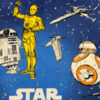 Calming weighted blanket made with licensed Blue Star Wars fabric