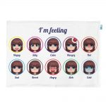 Emotions weighted lap pad for girls