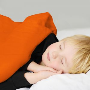Orange cotton Anti-anxiety calming therapy weighted blanket for insomnia