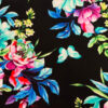 Fun printed cotton front of bright floral on a black backgroud for a calming weighted blanket