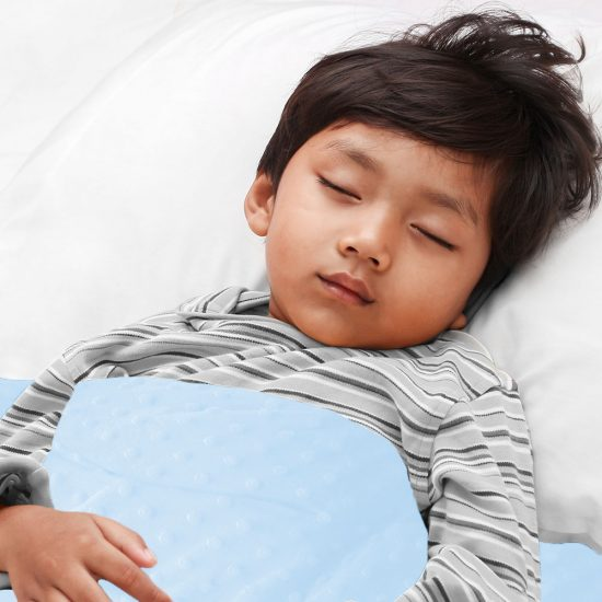 Baby blue sensory minky weighted blanket