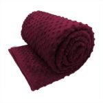Burgundy sensory minky weighted blanket
