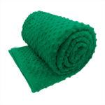 Emerald green sensory minky weighted blanket