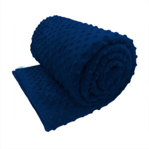 Navy blue sensory minky calming weighted blanket