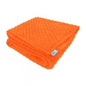 Orange sensory minky weighted blanket