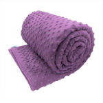 Purple sensory minky weighted blanket