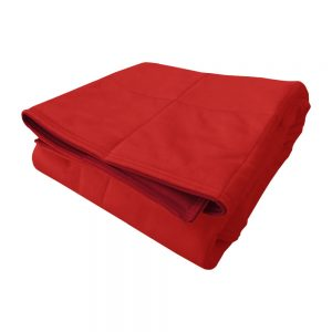 Red smooth minky weighted blanket