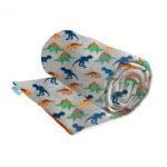 Grey dinosaur weighted blanket