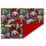 Weighted lap blanket made with licensed Avengers fabric