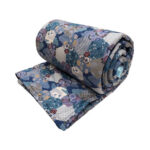 Design your own weighted blanket with blue patchwork fabric