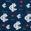Carlton fabric for a Team Supporter weighted blanket