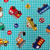 Printed cotton vehicles swatch for a weighted blanket