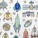 Rocket ships printed compression sheet