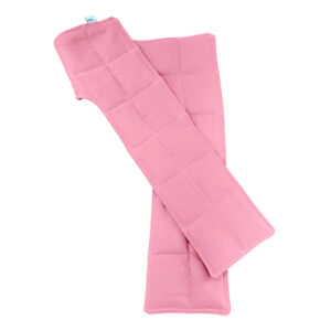 Baby pink cotton weighted shoulder soother