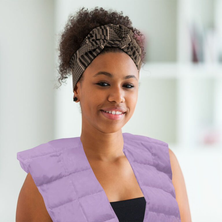 Cotton weighted shoulder soother