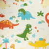 Dinosaurs on white background fabric for custom-made weighted blanket