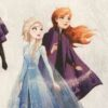 Frozen Princesses on white background fabric for a weighted blanket