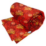 Gold Coast Suns Team Supporter Weighted Blanket