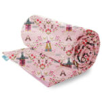 Rolled Mice and Windmills fabric weighted blanket