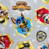 Grey Paw Patrol fabric swatch for a weighted blanket