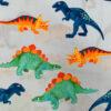 Blue Dinosaurs Print