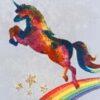 Rainbow unicorns fabric for custom-made weighted blanket