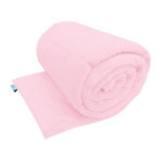 Baby pink smooth minky weighted blanket