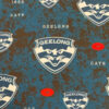 Licensed Print with Geelong Cats Pattern