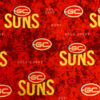 Licensed Print with Gold Coast Suns Pattern