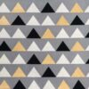 Black, white, grey and gold triangles fabric for a weighted blanket