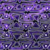 Purple triangles fabric for a weighted blanket