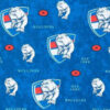 Western Bulldogs licensed fabric for custom-made weighted blanket