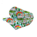 Unicorns and rainbows weighted blanket