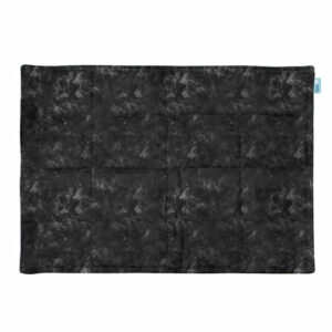 Abstract black weighted lap pad
