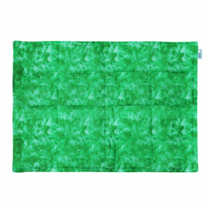 Abstract green fabric weighted lap pad
