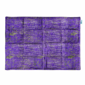 Abstract purple and gold weighted lap pad