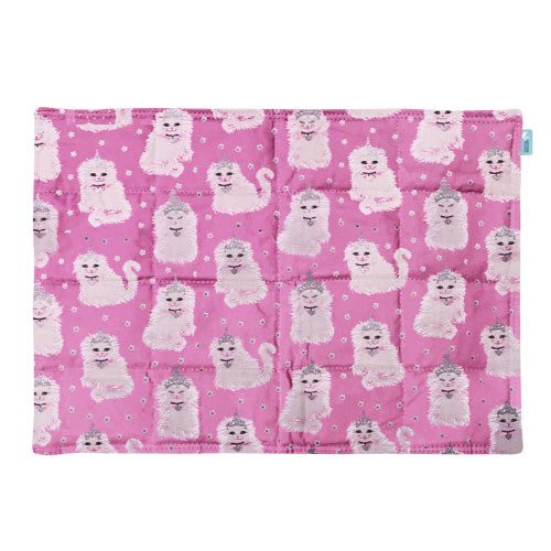 Weighted lap pad made with Princess cats fabric