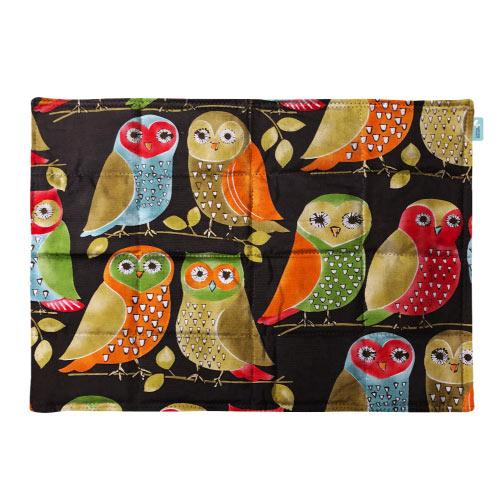 Orange Owls weighted lap pad