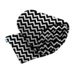 Weighted blanket made with black zig zag pattern printed smooth minky fabric