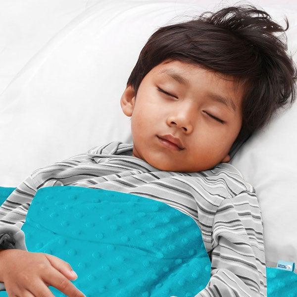 Aqua sensory minky weighted blanket